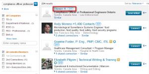 3rd degree user on LinkedIn