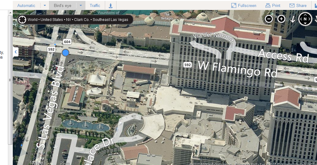 bing maps lv birdseye opposite side
