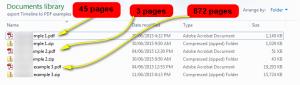 Facebook timeline export PDF file size compact